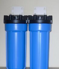 "DUAL WHOLE HOUSE WATER FILTRATION SYSTEM 3/4"" PR"