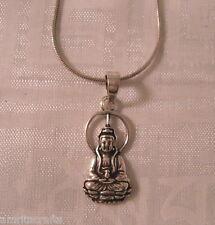 Compassion and Mercy Silver Pendant Kwan Yin Guanyin Boddhisatva Goddess of