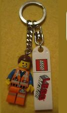 LEGO Movie Emmet MiniFIG Key Chain. Authentic Lego for the Lego Lover