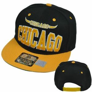 Chicago Illinois Windy City Chi Town Adjustable Snapback Acrylic Flat Bill Hat