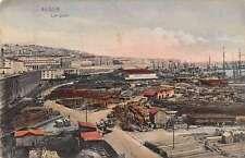 Algiers Algeria panoramic birds eye view train yard antique pc Y14417