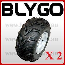 2X 20X10- 10 inch Rear Wheel Rim+ Tyre Tire 150cc 250cc Quad Dirt Bike ATV Buggy