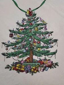 "SPODE AVANTI LINENS CHRISTMAS TREE 80"" X 60"" TABLECLOTH"