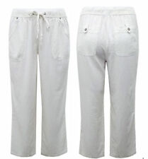 Evans Linen Blend Mid Trousers for Women
