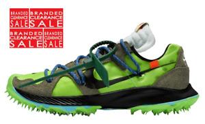 BNIB New Men Off-White x Nike Zoom Terra Kiger 5 Green CD8179-300 Size 7.5 uk