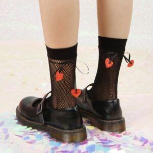 Lolita Gothic Women Girl Sexy Black Lace Calf Ankle Knee Ruffle Socks Stockings
