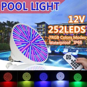 252LED RGB Colorful Swimming Pool Fixture Light Bulb for Pentair / Hayward Lamp