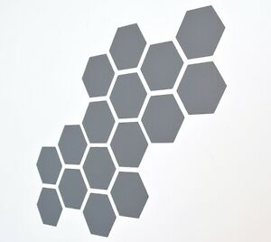 Hexagon Pattern Vinyl Wall Art Decals/Stickers - Various Colours & Sizes