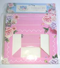 Rose Bleu Vert Cupcake Cases fenêtre Tasse Gâteau Support Fixation box case