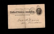 Crystal Springs Water Fuel Northern Ice Grand Rapids 1897 Postal Card 5s