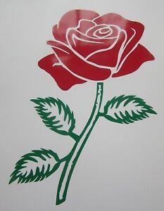 "FLOWER STICKER. ROSE  DESIGN FOR WALLS, PATIO DOOR, WINDOWS, SHOWERS 11"" DECAL"