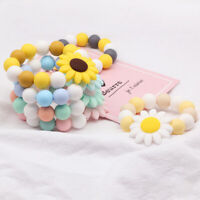 BPA Free Silicone Sunflower Baby Teether Sensory Chew Bracelet Shower Gifts Toys