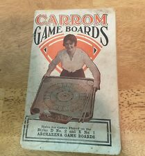 CARROM CO. 1919 Rules Book for playing games on Archarena Game Boards