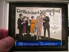 Get Rich Quick Wallingford - Original 1922  Movie Glass Slide - Kerry