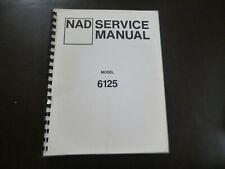 Original Service Manual Schaltplan NAD 6125