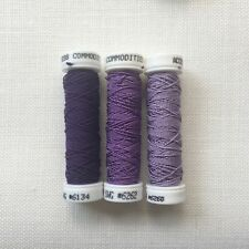 Access Commodities Silk Gimp collection Pansy purples embroidery