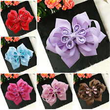 "10 BLESSING Happy Girl Hair Accessories Baby New Style 4.5-5"" A- Lotus Bow Clip"