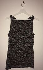 Ladies Sleeveless Floral Flower Print Woman's Vest Top
