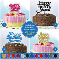 Happy Birthday ANY NAME PERSONALISED Custom Cake Topper Birthday Decorations