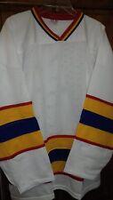 Ice Hockey Roller Hockey Mesh Training Shirt Jersey WHITE/red/yellow/blue Small