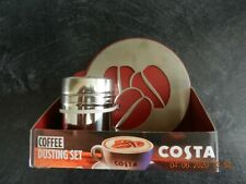 Costa Coffee Dusting Set Stencil and Shaker New