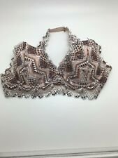 NWT Victoria's Secret PINK Lace Bralette Lightly Lined Multicolor Medium