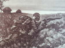 1914 GERMAN SNIPER HUNTING BRITISH SENTRY (DOUBLE PAGE) WW1 WWI