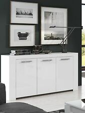 Boston Soft White Gloss Sideboard Storage Cabinet Unit Lounge Dining Furniture