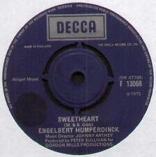"""[BEE GEES] ENGELBERT HUMPERDINCK ~ SWEETHEART ~ 1970 UK 7"""" SINGLE ~ DECCA F13068"""