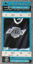 1998 SAN JOSE SHARKS vs LOS ANGELES KINGS TICKET - EX-MINT - FREE SHIPPING!