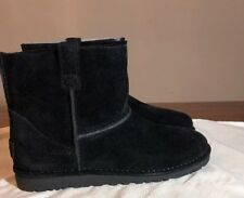 UGG Classic Mini Unlined Booties Black Size 8 100% Authentic FAST SHIPPING NEW