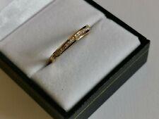 New DIAMOND 18ct 750 yellow GOLD HALF ETERNITY band RING 20 round brilliant