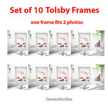 IKEA 10 Picture Frames TOLSBY Photo Frames White Modern Displays Double Picture