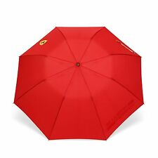 Ferrari Red Shield Compact Travel Umbrella w/Scuderia Ferrari Print When Wet