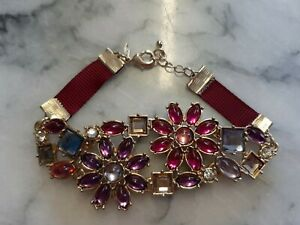 Purple Flowers Statement Bracelet By Avon - New with Imperfect Packaging