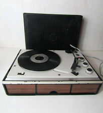 Tourne-disque Platine Vinyle Noire et marron et gris Schneider vintage SE 400