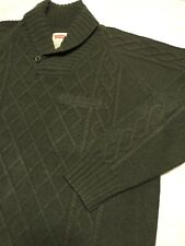 Vintage LEVIS Sweater Chunky Cable Knit Wool Army Green Men's XXL
