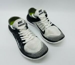 Nike Free 4.0 Flyknit Women's Running Shoes Black White Orca 631050-100 Size 8.5