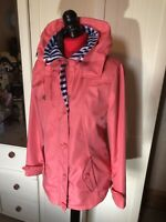 FIRST AVENUE Ladies Coral Pink Hooded Anorak Jacket Size 10
