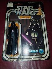 STAR WARS vintage NEW 1977 Darth Vader 12 back MOC Kenner $$$ L@@K $$$
