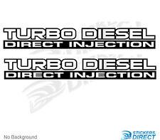 Nissan Patrol GU Turbo Diesel Direct Injection Sticker Set of 2 Decals 500mm