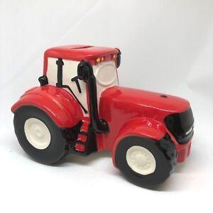 Tractor Money Box John Deer Green, Fordson Blue, Massey Ferguson Red, Girly Pink