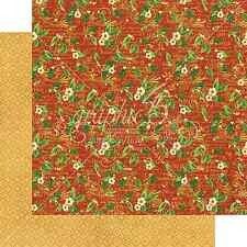 Graphic45 HOLLY DAZE 12x12 Dbl-Sided Scrapbooking (2pcs) Paper CHRISTMAS