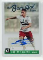 2018-19 Carlos Salcedo Auto Panini Donruss Autographs The Beautiful Game