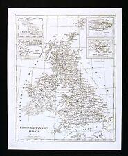 1849 Bilder Atlas Map - Great Britain & Ireland - England Wales Scotland London