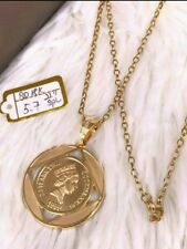 GoldNMore: 18K Gold Necklace and Pendant 22 inches chain