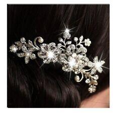 Damen Strass Blume Blatt Hochzeit Braut Haarschmuck Haarreif