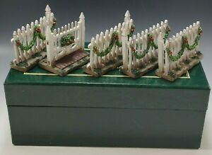 COLONIAL WILLIAMSBURG DECORATED GATE AND FANCE SET OF 5 WISE AND LANG MIB