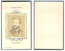 Liébert, Figaro Album, Monsieur Magnard CDV vintage albumen carte de visite,