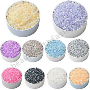 400Pcs 3mm Round Czech Glass Spacer Loose Beads For DIY Jewelry Finding Pendant